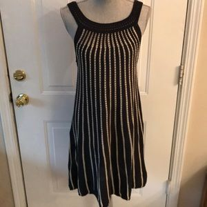 French Connection Womens Navy & White Dress
